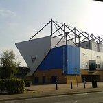 The neighbouring football stadium