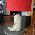 Dekorative Lampe im Eingangsbereich