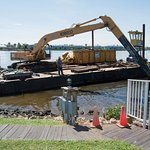 The old dock being removed!