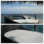 Sitting area at the jetty