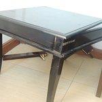 Broken table in the room