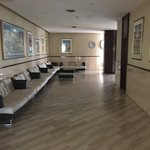 Un des couloirs de la réception