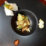 The Fabulous Golbangyi Salad with sautéed whelks