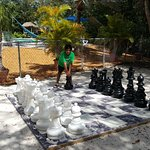 Big ground chess game