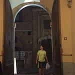 Walking around Montepulciano after dinner