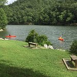 Good park for swimming lake, kayaks, and a ton of walking trails. 10 degrees cooler than surroun
