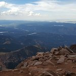 From balcony and Top of Pikes Peak