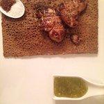 Galette au foie gras et confiture de figues