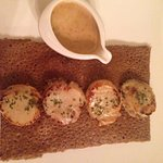 Galette fondue de poireaux/saint jacques