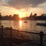 Walk off the meal or drinks along the harbour