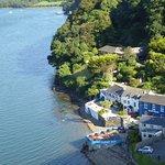 The Ferry Inn from the Cleddau Bridge