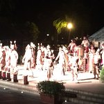 Night show with typical dances