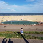 Gorleston beach, about 100 metres from the hotel.