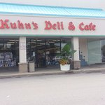 Front & entrance to Kuhn's Deli & Cafe