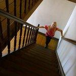 escadaria de madeira