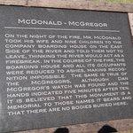 McDonald McGregor family informational marker