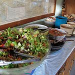 simple but entirely adequate salad bar