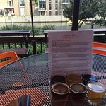 Patio view and flyer sampler