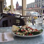 Summer Salad on the patio at the Thirsty Loon