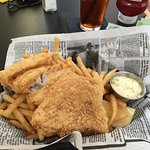 Fried cod and fries basket