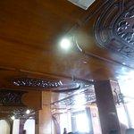 餐廳二樓的天花板雕刻