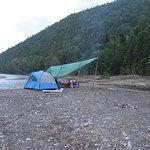 Première nuit campé sur une île, installation du soir
