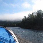 Le lendemain matin, une brume sur la Cime des montagne