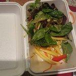 9$ mango salad...