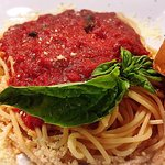 Spaguetti with homemade Marinara sauce. To die for!