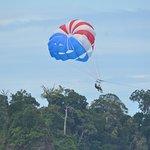 Parasailing above Manuel Antonio Beach