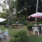 The bbq area is super nice and chill but bring mosquito repellant!!