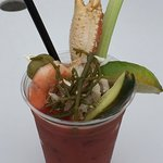 A Crabby Bloody Mary from the Crab Station at Icy Strait Point