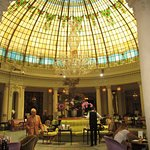 ground level view of the Rotonda at the Westin Palace in Madrid