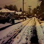 Blackheath streets near hotel in snow