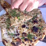 We had two types of paratha bread (this is garlic and herbs) and both were fabulous