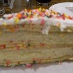 Yummy Crepe and Cream Birthday Cake.