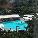 Vista piscina dalla camera quadrupla