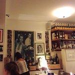 Inside the restaurant, great Italian pic of celebrities.