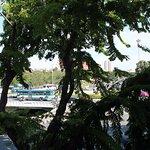 Вид из окна номера на Санам Луанг