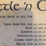 Sheps Irish red is a great beer