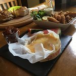 White bait, melted Camembert and rolls mmmmm
