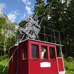 reconstitution de la cabine du premier téléphérique au monde