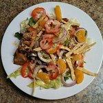 Salmon dinner salad