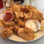 Fried oysters and turtle chips