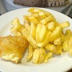 Fried Wensleydale & chips