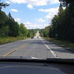 Driving to Lake George