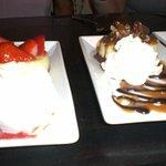 Cheese caske and Brownie dessert