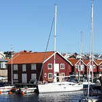 """Sea Lodge is located on the """"wrong"""" side of Smögen harbour but has great views"""