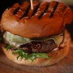 My juicy burger at Hamnen 4