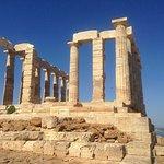 Temple of Poseidon Sounion Foto